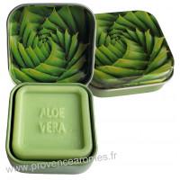 Boîte et savon d'invité à l'Aloé Vera Bio Esprit Provence