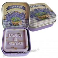 Boîte et savon d'invité Fleur de Lavande Provence Esprit Provence