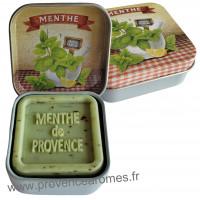 Boîte et savon d'invité Menthe de Provence Esprit Provence