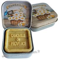 Boîte et savon d'invité Camomille de Provence Esprit Provence