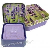 Boîte et savon 100 g Brins de Lavande déco Esprit Provence