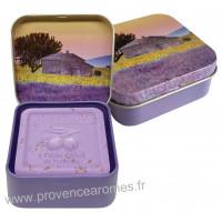 Boîte et savon 100 g Lavande Tournesol déco Esprit Provence