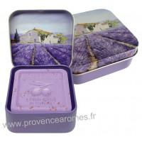 Boîte et savon 100 g Lavande déco Mas Provençale Esprit Provence