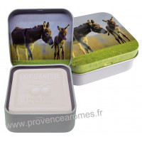 Boîte et savon 100 g au Lait d'ânesse Bio Esprit Provence