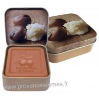 Boîte et savon 100 g au Beurre de Karité Bio Esprit Provence