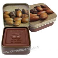 Boîte et savon 100 g à l'huile d'argan Bio Esprit Provence