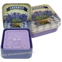 Boîte et savon 100 g Fleur de Lavande Provence Esprit Provence