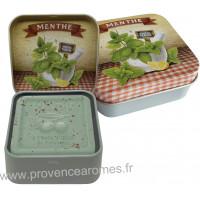 Boîte et savon 100 g Menthe de Provence Esprit Provence