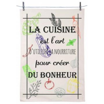 Torchon LA CUISINE EST L'ART D'UTILISER LA NOURRITURE POUR CREER DU BONHEUR