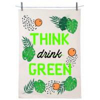 Torchon THINK drink GREEN