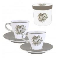 Coffret de 2 tasses à café décor Ange
