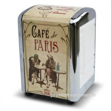 distributeur de serviette CAFÉ DE PARIS déco rétro vintage Natives
