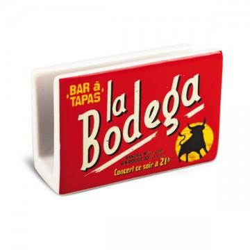 """Porte éponge """" Bar à Tapas La Bodéga """" Natives"""