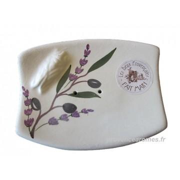 Porte Savon rectangle cigale Sicard couleur Blanc