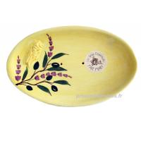 Porte Savon Ovale cigale Sicard couleur jaune