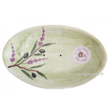 Porte Savon Ovale cigale Sicard couleur Vert