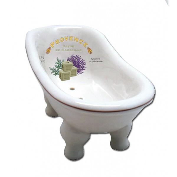 Porte savon baignoire ancienne provence savon de marseille for Accessoire porte savon pour baignoire