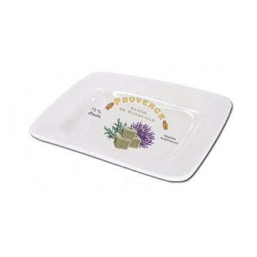 Porte savon céramique rectangle déco PROVENCE SAVON DE MARSEILLE