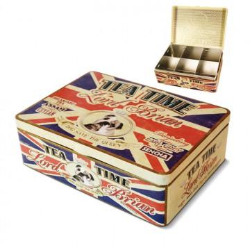 Boîte à Thé 6 compartiments ENGLISH PUB Natives déco rétro vintage