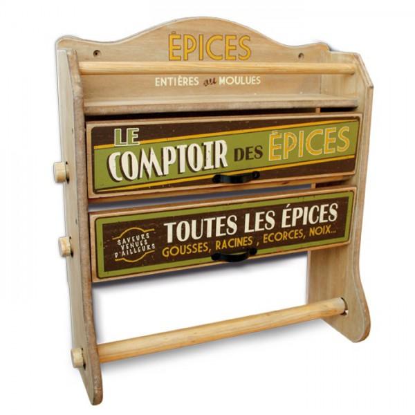 D vidoir 3 rouleaux le comptoir des epices natives d co - Porte rouleaux de cuisine ...
