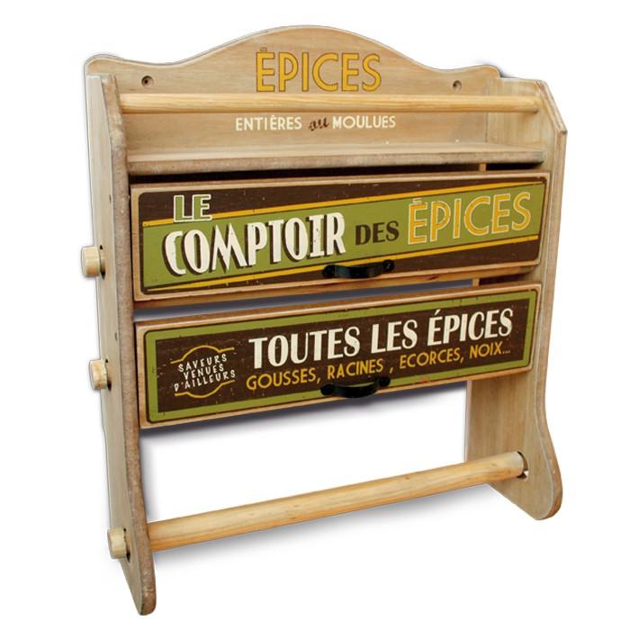 Dévidoir 3 Rouleaux Le Comptoir Des épices Déco Rétro Vintage Natives Provence Arômes Tendance Sud