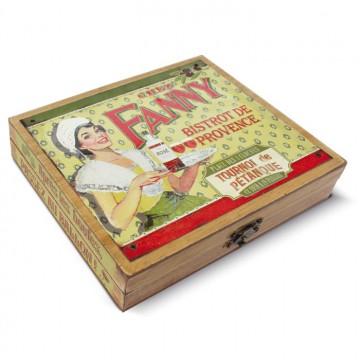 """Coffret accessoires Vin """" Bistrot Chez Fanny """" Natives déco rétro vintage"""