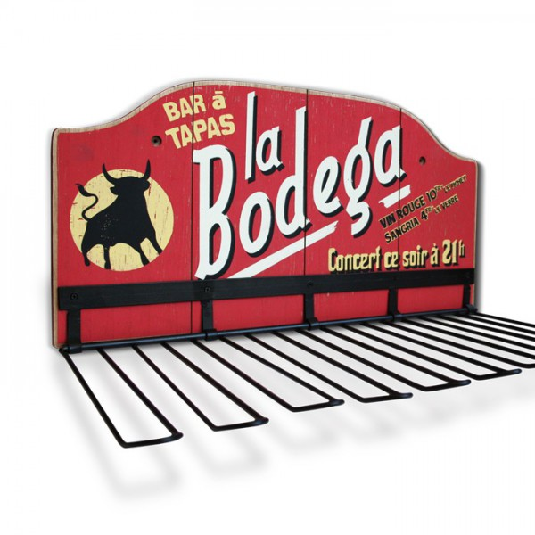 Support verres bar tapas la bodega natives d co r tro vintage - Support verre a pied pour bar ...