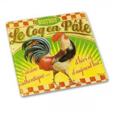"""Dessous de Plat """" Bistrot Le Coq en Pâte """" déco rétro vintage Natives"""