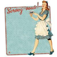 Miss fifties natives d co r tro vintage provence ar mes - Tableau aimante pour frigo ...