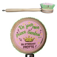 "Brosse vaisselle "" Mon Prince Viendra """