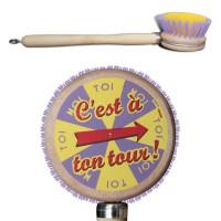 Brosse vaisselle C'est à ton tour Natives déco rétro vintage humoristique