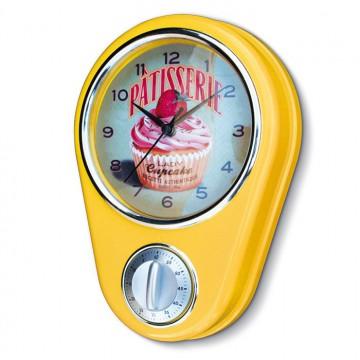 """Horloge/ Minuteur """" Lady Cupcake """" Natives déco rétro et vintage"""