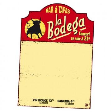 """Tableau effaçable aimanté pour frigo """" Bar à Tapas La Bodéga """" Natives"""