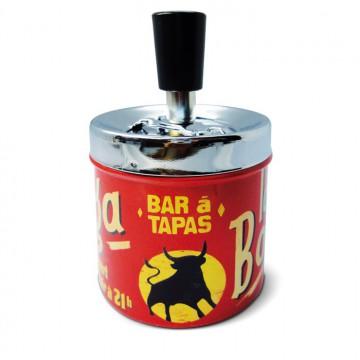"""Cendrier poussoir Bar à Tapas """" La Bodega """" Natives déco rétro vintage"""