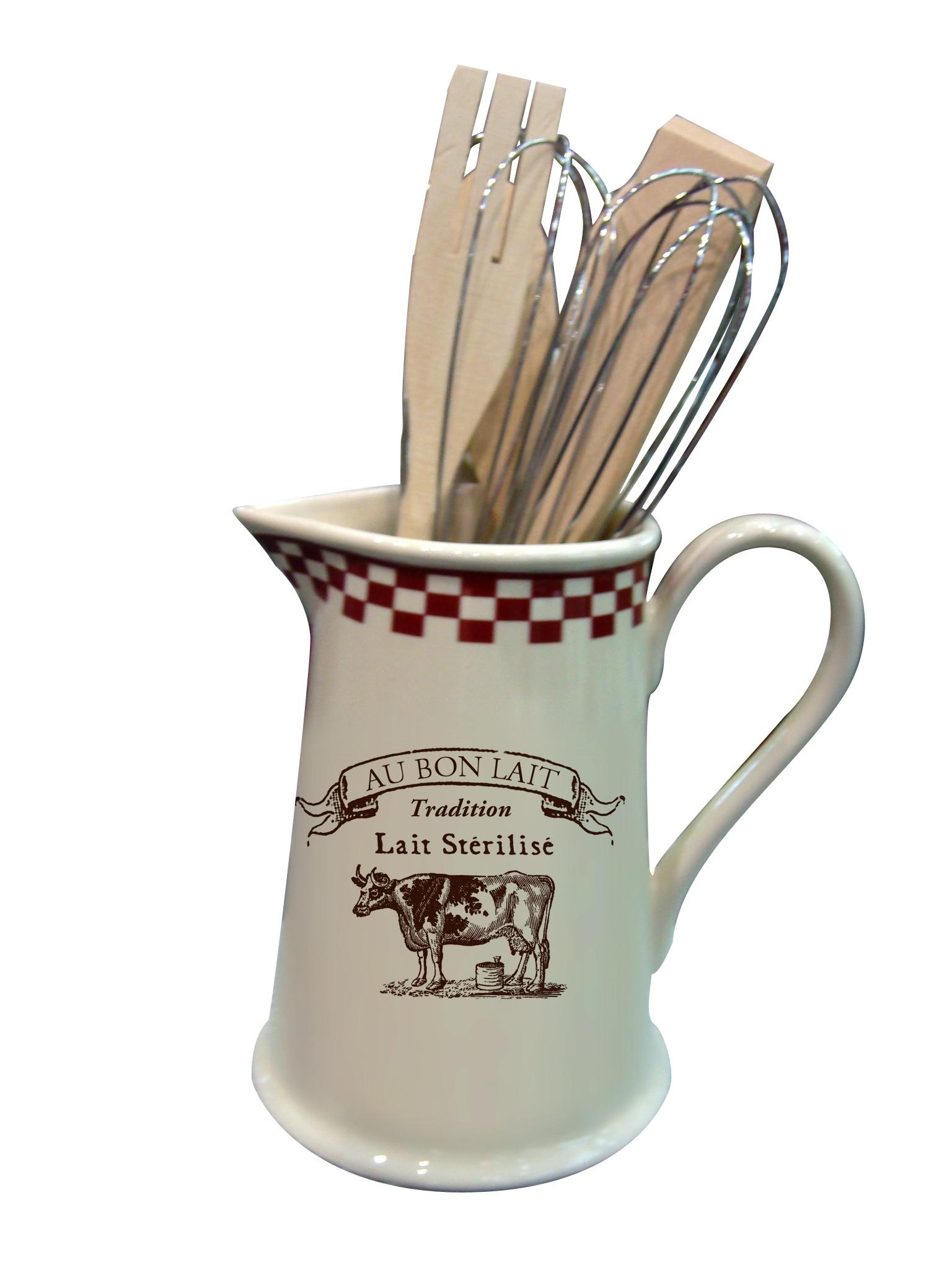 pichet porte ustensiles au bon lait dco campagne et tradition provence armes tendance sud