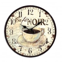 """Horloge """" Café noir """""""