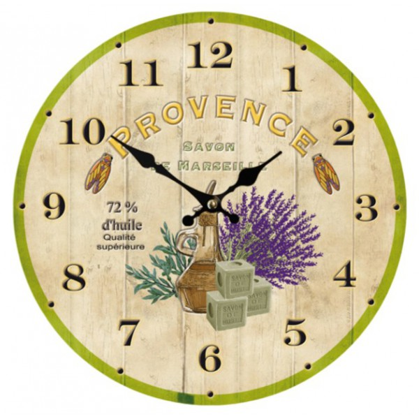 horloge d co proven ale provence savon de marseille. Black Bedroom Furniture Sets. Home Design Ideas