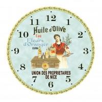 """Horloge """" Huile d'Olive """""""