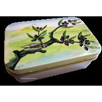 """Boîte à savon """" branche d'olivier """""""