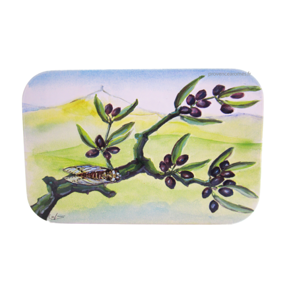 bo te savon branche d 39 olivier avec cigale provence ar mes tendance sud. Black Bedroom Furniture Sets. Home Design Ideas
