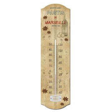 Thermomètre métal Pastis de Marseille