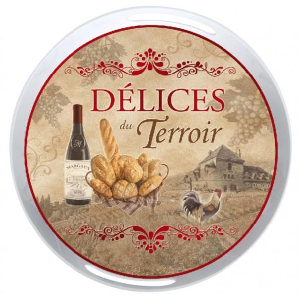 Plateau m lamin rond d lices du terroir provence for Plateau melamine cuisine