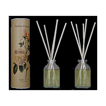 Parfum d'ambiance à bâtons Rose Provence et Nature