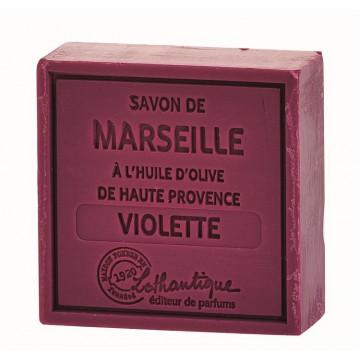 Savon de Marseille Violette à l'huile d'olive de Haute Provence Lothantique