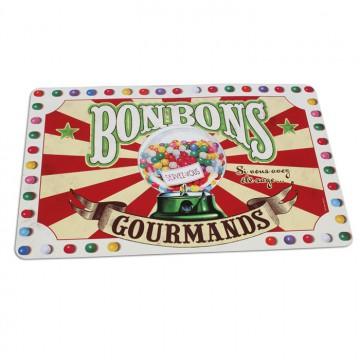 """Set de table """" Bonbons gourmands """" Natives déco rétro vintage"""