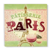 "Serviettes en papier "" Pâtisserie de Paris "" Natives"