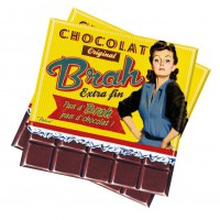 """Serviettes en papier """" Chocolat Brah """" Natives"""