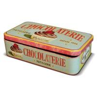 """Boite en métal pour tablettes de chocolat """" Lady Cupcake """" Natives"""