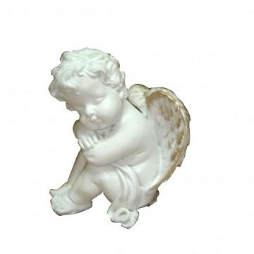 Figurine Ange Chérubin assis endormi