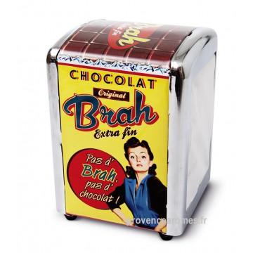 """Distributeur de serviettes """" Chocolat Brah """" Natives déco rétro vintage"""